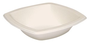 12 oz. Square Sugarcane Biodegradable Bowl