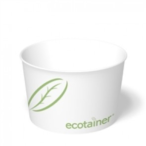8 oz. Ecotainer Paper Soup / Food Containers, Compostable