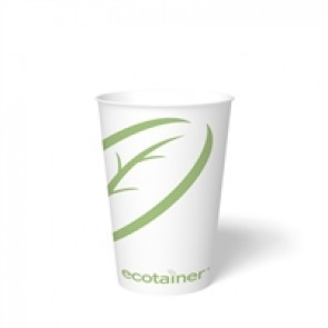 12 oz. Ecotainer Biodegradable Hot Cup / Coffee Cup, Compostable