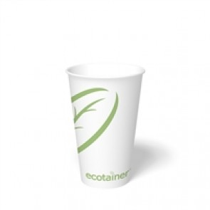 16 oz. Ecotainer Biodegradable Hot Cup / Coffee Cup, Compostable