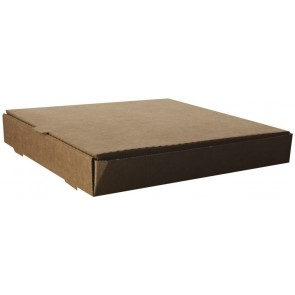 "12"" Square, Unbleached Brown Kraft Pizza Box"