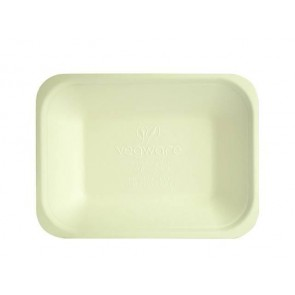 "Bagasse Chip Tray 7"" x 5.25"" x 1.25"