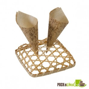 Bamboo Display for Cones - 5.1 x 5.1 x 1.1 in.