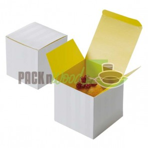 Cupcake Box - 1 compartment - Yellow Inserts Included