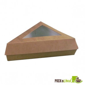 Kraft Slice Box with Window - 6.7 x 5.1 in.