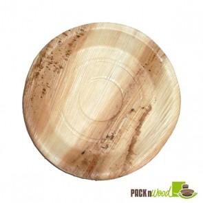 """Palm Leaf Round Plate - 9.8"""""""