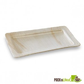 PALMTRAY - Palm Leaf Rectangular Tray - 11.02 x 7.08 x 0.59 in.