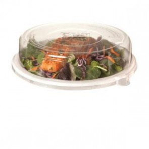 "9"" 100% Recycled Clear PET Plastic for 9"" Plate (EP-P013LID), Recyclable, 300/cs"