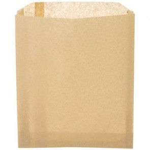 "6 1/2"" x 8"" Natural Kraft Sandwich / Pastry / Cookie Bag"