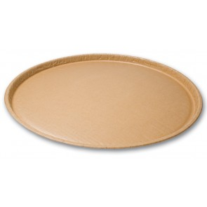 "18"" Kraft Natural Coated Corrugated Paper Catering / Deli / Party Tray"