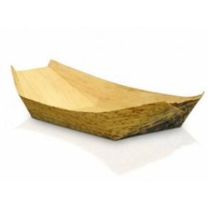 "9.5"" Bamboo Biodegradable Boat Trays"