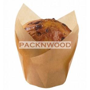 """6 oz Golden Brown Tulip Baking Cups 3.5 x 2.3"""""""