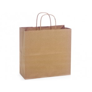 "100% Recycled Paper Shopping Bags, 10"" x 5"" x 10"""