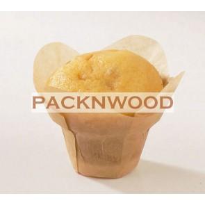 "4 oz Golden Brown Lotus Baking Cups 3.25 x 1.7"""