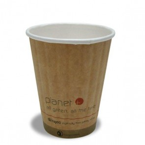 8 oz. Planet Kraft Hot Cup - Double Wall (West Coast Warehouse)