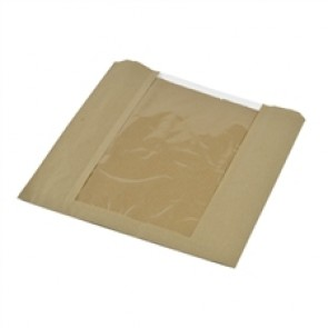 "10 x 10"" Kraft PLA Window Bag"