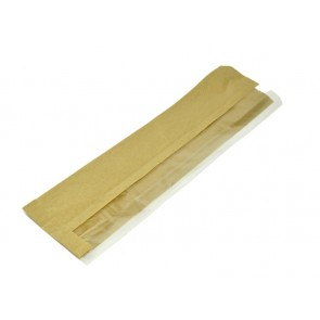 "4 x 6 x 14"" Kraft PLA Side Window Baguette Bag"