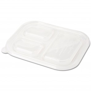 LID for 3-Compartment Wheatstraw Tray