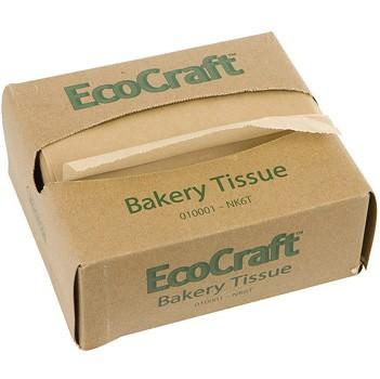 "6"" x 10.75"" Natural Kraft Interfold Bakery Tissue"