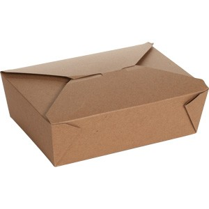 "BioPlus EARTH Recycled Take Out Container #3, 7 3/4"" x 5 1/2"" x 2 1/2"""