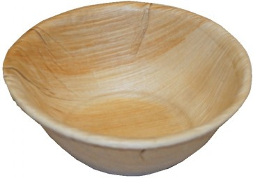 """ Round Biodegradable Fallen Palm Leaf Bowls"