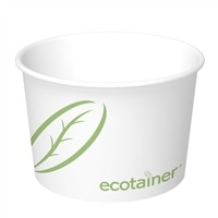 12 oz. Ecotainer Paper Soup / Food Containers, Compostable, Case of 1000