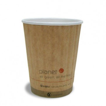 12 oz. Planet Kraft Hot Cup - Double Wall (West Coast Warehouse)