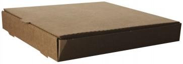 "12"" Square, Unbleached Brown Kraft Pizza Box"