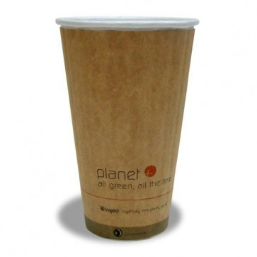 20 oz. Planet Kraft Hot Cup - Double Wall (West Coast Warehouse)