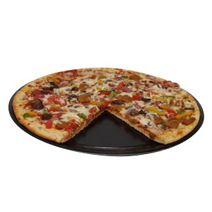 "17"" Take and Bake Pizza Trays, Black"