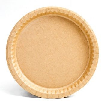 "9"" Kraft Natural Coated Recycled Corrugated Paper Plates"