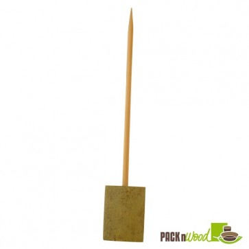 Single Prong Bamboo Skewer with Block End - 5.91 in.