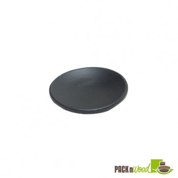 Round Black Bamboo Mini Dish - 2.4""