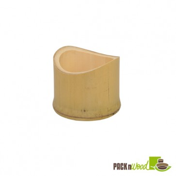 TAMAGO - Oblique Bamboo Cut Tube - 1.9 x 1.6 in.