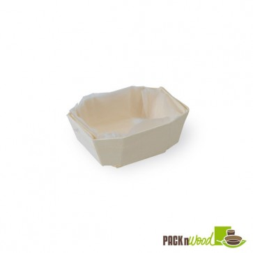 LOVELY - Wooden Baking Mold - Top: 3.9 x 2.7 x 1.5 in.