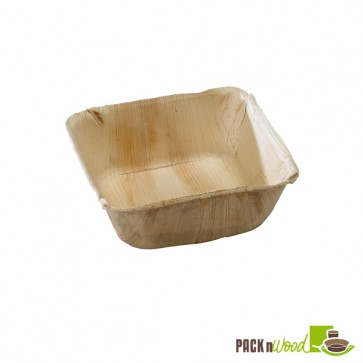 PALMBOWL - Palm Leaf Square Bowl - 5.12 x 2 in.