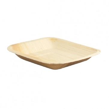 "6.3"" Square Biodegradable Fallen Palm Leaf Plates"