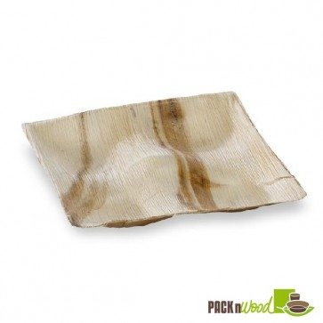 PALM4TAPAS - Palm Leaf Four Compartment Plate - 8 x 8 in.