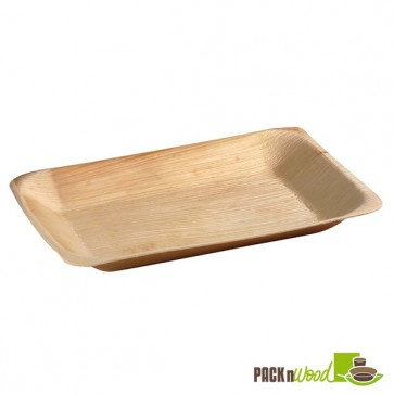 Rectangular Palm Leaf Plate - 9.5 x 6.3 in.