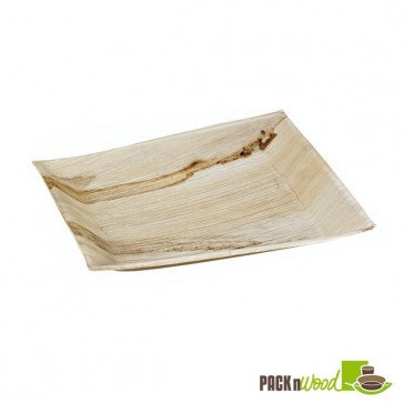 Palm Leaf Plate with Square Corners & Slanted Edges - 10.63 in.