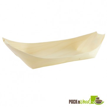 Large Wooden Boat - 9.4 x 4.3 in.