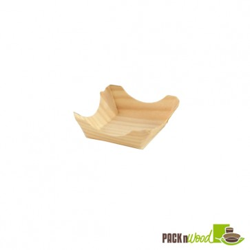 PIN UP - Wooden Square Plate - 3.7 in.