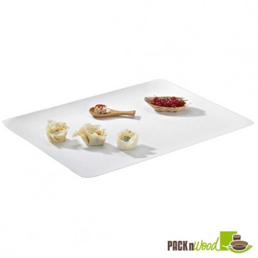 Recyclable Clear Lid for Bio 'n' Chic - Rectangular Sugarcane Platter - 15.3 x 11.4 in.