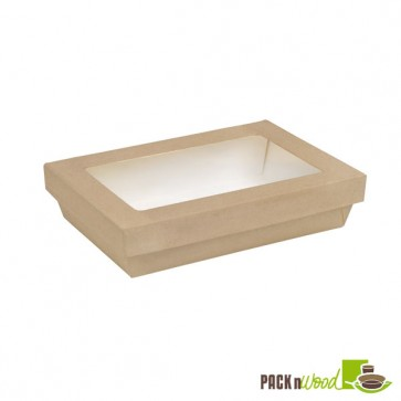 Rectangular Kraft Box with Window - 8.8 x 6.1 x 2 in.