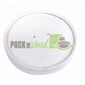 Paper lid for 16/24/32oz White Paper Food Container