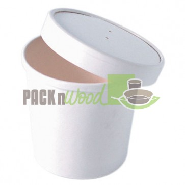 VENTED LID FOR 8 oz. Mini White Soup Cup - Case of 500