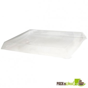 Clear Recyclable Lid For Rectangular Wooden Tray