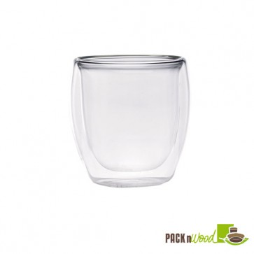 Double Wall Short Mini Glass - 2.5oz