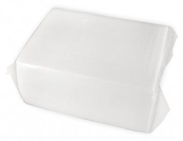 """16 x14.5"""" 2-Ply White Dinner Napkin"""