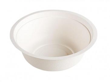 12 oz. Biodegradable Stalk Market Sugarcane Bagasse Bowl, Compostable, Natural White
